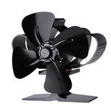 1200RPM Mini ventilador de estufa alimentado por calor 4 cuchillas Chimenea silenciosa Eco Fan Calefacción Distribución Sin electricidad O Batería