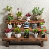 Suporte de madeira Planta Escada Vaso para flores Armazenamento Prateleira Suporte de prateleira para piso Casa Escritório Decoração de jardim