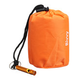 Emergency Sleeping Bag Survival Camping Travel Bag Waterproof With Whistle