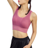 Femmes Causal Hollow Solid Color Sport Tank Bra
