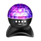 ワイヤレスブルートゥースクリスタルマジックボールスピーカーColorful回転ステージRGB LEDプロジェクターライト1500 mah KTVダンスバー用