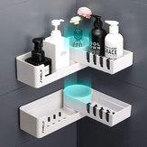 Rotating Corner Bathroom Storage Rack Shower Shelf Organizer Basket Tidy Hook Bathroom Shelf Rack