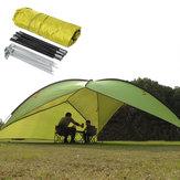 Tenda da sole all'aperto del baldacchino UV della spiaggia della tenda campeggio del triangolo del poliestere 210T con stoccaggio Borsa