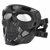 Wosport Skull Tactical Airsoft Masque Paintball CS Militaire De Protection Full Face Pour Casque Rapide