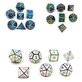 7 Pcs Alloy Polyhedral Dices Set Role Playing Game Acessório Para Dungeons Dragons