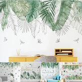 DIY hojas tropicales Planta flor etiqueta de la pared arte decoración del hogar oficina calcomanía mural