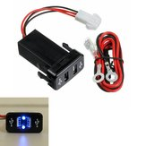 12 / 24V Dual USB Car شاحن Fast 2.1A ذكي محول For Toyota For Most ذكيphone MP3