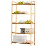 3/4/5 Tiers Sapateiras Prateleira de madeira Stand Shelve Home Office Organizer DIY