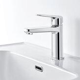 Diiib Bad Waschbecken Wasserhahn Heiß Kalt Mischbatterie Einhand-Deckhalterung mit Edelstahlschlauch NEOPERL Bubbler Keramikkern aus