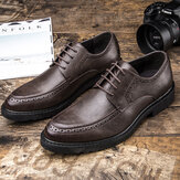 Retro Brogue Carved Casual Business Leather Oxfords