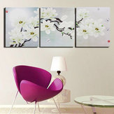 3pcs Frameless Magnolia Canvas Pictures Wall Art Home Print Picture Printing Set For Home Decorations