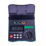 DUOYI DY4300A Digitale aardingsweerstandstester Meter 0,001 Ohm - 200 KOhm 94 Hz 105 Hz 111 Hz 128 Hz