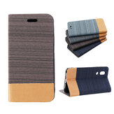 Custodia protettiva in pelle PU Bakeey Flip Canvas per Sharp AQUOS S2