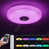 Modern Music Ceiling Light 48W 36LED Bluetooth Speaker Flush Down Lamp