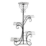 5 яруса Металл Растение Стенд Цветочный горшок Полка Стойка Rust устойчивы для внутреннего На открытом воздухе Поворотный Дисплей Стенд