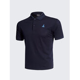 Casual Solid Color Stickerei schnell trocknendes Golf Shirt