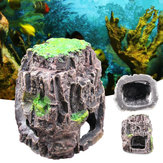 Aquarium Fish Tank Ornament Rockery Hiding Cave Landscape Underwater