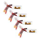 4Pcs ZOP Power 11.1V 450mAh 70C 3S Lipo Batería JST XT30 Enchufe para FPV Racing Multi Rotor