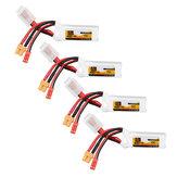 4 قطع ZOP Power 11.1 فولت 450 مللي أمبير 70c 3S يبو البطارية jst XT30 المكونات ل fpv سباق متعدد الدوار