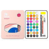 Lighting&Micro 36 Colors Watercolor Pigment Set Solid Watercolor Paint Tools Students Hand-painted School Art Supplies