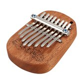 GECKO K8mini / K-8CM / K-8CA 8 teclas de cânfora / mogno Mini Kalimbas Piano de polegar com afinação Hammer