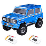 URUAV 1/24 Mini RC Car Crawler 4WD 2.4G Waterproof RC Vehicle Model RTR With Two Batteries for Kids and Adults