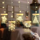 USB Romantic 3D Hanging Christmas LED Curtain String Light DC5V 8 Modes Remote Control for Home Decoration