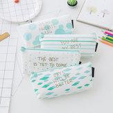 Umgekehrtes trapezförmiges Studenten-Federmäppchen Kreatives Briefpapier Reißverschluss Federmäppchen Schreibwarenbeutel