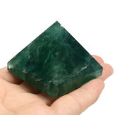 Natural Fluorite Pyramid Crystals Healing Display Quartz Specimens Stones Decorations