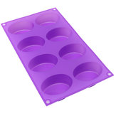8-Cavity Oval Soap Mold Silikon Schokoladenform Tray hausgemachte Muffin Making Tool Backform