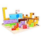 3D-puzzelspel Speelgoed Tetris Wood Animal-puzzel Intellectueel 3D-puzzelbord voor jongens Meisjes Vroegonderwijs