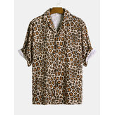 Camicie Revere Relaxed Revere Uomo Leopard