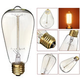 KINGSO ST64 E27 60W Vintage Warm White Incandescent Antique Edison Light Bulb for Home Indoor AC110V 220V