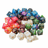 42Pcs 6Set Acrylic Polyhedral Dice Multi-side Dice Set With Bag For DND RPG MTG Role Playing Board Game