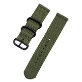 Bakeey 20mm Canvas Nylon Watch Band Strap Black Buckle Military Style for BW-HL1/Samsung S3 Smart Watch