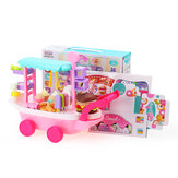 36 szt. Candy Cart Ice Cream Toys Cart W / Wheels Pretend Game Play Girl Birthday Gift