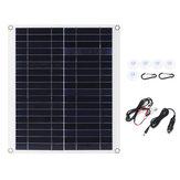 ChargeursolaireflexibleIP65Batteriedu chargeur solaire monocristallin 12V / 5V DC Mono de panneau solaire mono de 20W 18V pour le bateau de voiture de camping-car