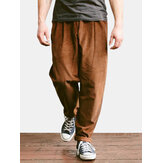 Mens Cord Corduroy Trousers Smart Casual Loose Trousers Formal Straight Pants