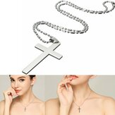 20'' Stainless Steel Chain Cross Silver Pendant Necklace Jewelry Christmas Gift