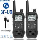 2 ADET BAOFENG BF-U9 8 W Taşınabilir Mini Walkie Talkie El Otel Sivil Radyo Comunicacion Jambon HF Telsiz US Fiş
