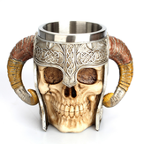 Creativity 3D Stainless Steel Skull Cup Novelty Skull Head Mug Claw Coffee Drinking Cup for Office