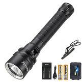 AloneFire DV52 XM-L2 LED Lanterna à prova d'água LED Lanterna 18650 Lanterna de mergulho