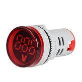 3 pcs Rouge ST16VD 22mm Taille Du Trou 6-100 VDC Voltmètre Numérique Rond Détecteur De Tension Testeur Mini LED Indicateur De Tension Signal Signal Moniteur