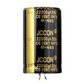 Condensatore elettrolitico in alluminio radiale 22000UF 35V 30x50mm ad alta frequenza 105 ° C