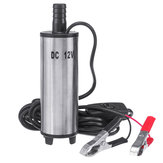 12V Oil Diesel Liquid Electric Fuel Transfer Pump Submersible Water 32L/min with Filter Net