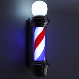 "Salon de coiffure 22 ""Rotating LED Stripes Pole Light Hair Salon"