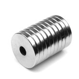 10Pcs 20x3mm NdFeB Neodymium Magnet with 3mm Hole Countersunk Round Ring Magnets