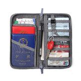 Pria Wanita Pemegang Paspor multi-fungsi Tas Dokumen Kartu Kredit Travel Dompet Organizer Tas Olahraga