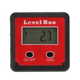 Drillpro 2-Schlüssel Mini Präzisions Digital Neigungsmesser Level Box Winkelmesser Winkelfinder Messgerät mit Magnetfuß