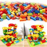 200 stks / set doolhof bal track bouwstenen ABS trechter slide monteren bakstenen blokken speelgoed